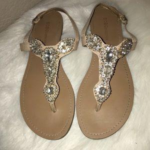 BCBG T-Strap Sandals